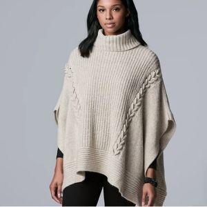 Vera Wang knit turtleneck poncho